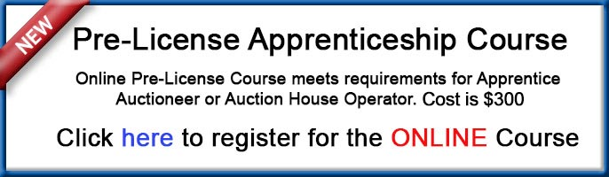 Online Auctioneer Apprentice Course
